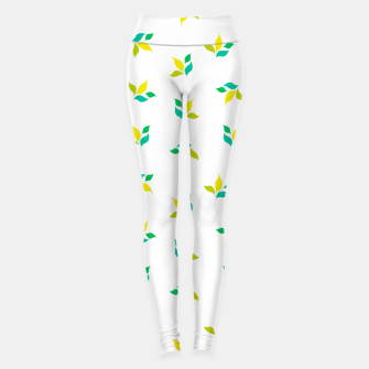 Thumbnail image of simple floral leaves seamless pattern 01 on white Leggings, Live Heroes