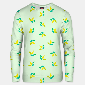 Thumbnail image of simple floral leaves seamless pattern 01 Unisex sweater, Live Heroes