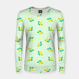 Thumbnail image of simple floral leaves seamless pattern 01 Women sweater, Live Heroes