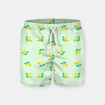 Thumbnail image of simple floral leaves seamless pattern 01 Swim Shorts, Live Heroes