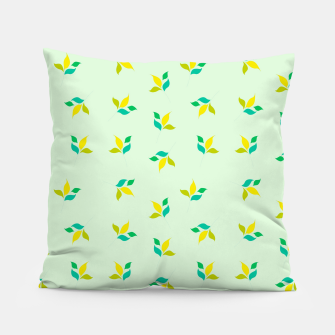 Thumbnail image of simple floral leaves seamless pattern 01 Pillow, Live Heroes