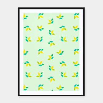 Thumbnail image of simple floral leaves seamless pattern 01 Framed poster, Live Heroes