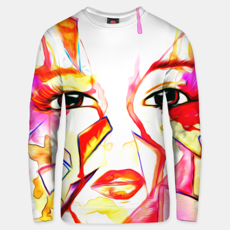 Thumbnail image of rainbow face oil reworked Unisex sweater, Live Heroes