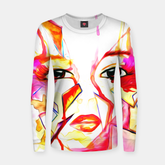 Thumbnail image of rainbow face oil reworked Women sweater, Live Heroes