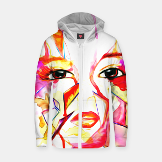 Thumbnail image of rainbow face oil reworked Zip up hoodie, Live Heroes