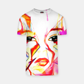 Thumbnail image of rainbow face oil reworked T-shirt, Live Heroes