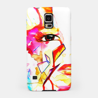 Thumbnail image of rainbow face oil reworked Samsung Case, Live Heroes