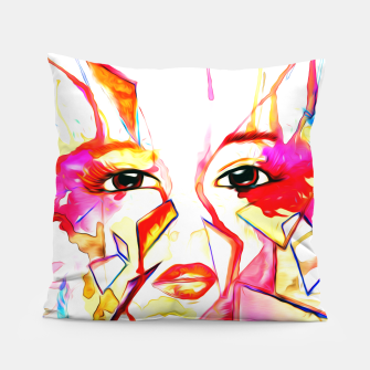 Thumbnail image of rainbow face oil reworked Pillow, Live Heroes