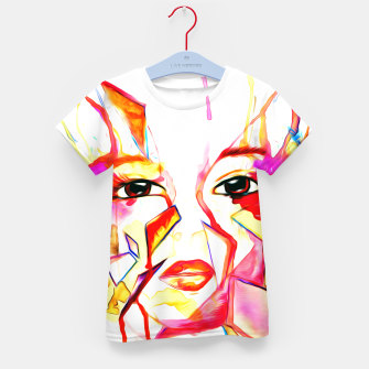 Thumbnail image of rainbow face oil reworked Kid's t-shirt, Live Heroes
