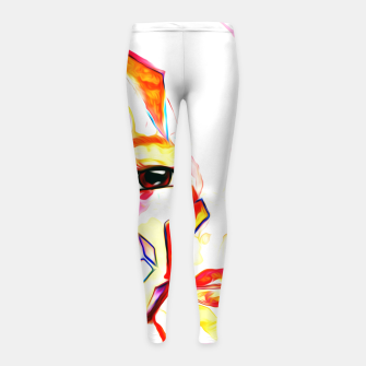 Thumbnail image of rainbow face oil reworked Girl's leggings, Live Heroes