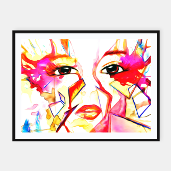 Thumbnail image of rainbow face oil reworked Framed poster, Live Heroes