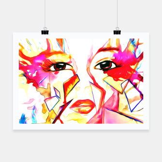 Thumbnail image of rainbow face oil reworked Poster, Live Heroes