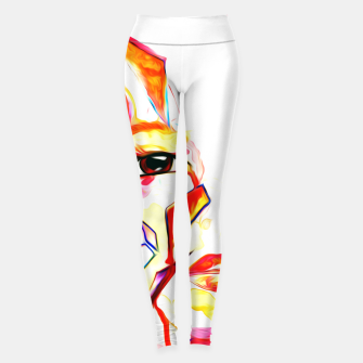 Thumbnail image of rainbow face oil reworked Leggings, Live Heroes