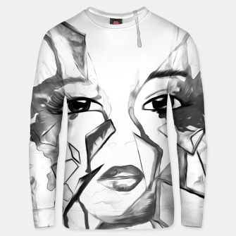 Thumbnail image of rainbow face oil reworked black white Unisex sweater, Live Heroes