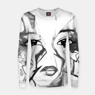 Thumbnail image of rainbow face oil reworked black white Women sweater, Live Heroes