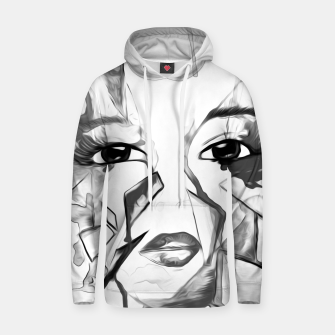 Thumbnail image of rainbow face oil reworked black white Hoodie, Live Heroes