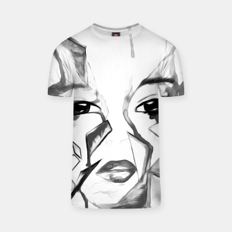 Thumbnail image of rainbow face oil reworked black white T-shirt, Live Heroes