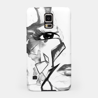 Thumbnail image of rainbow face oil reworked black white Samsung Case, Live Heroes