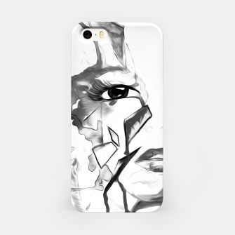 Thumbnail image of rainbow face oil reworked black white iPhone Case, Live Heroes