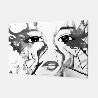 Thumbnail image of rainbow face oil reworked black white Canvas, Live Heroes