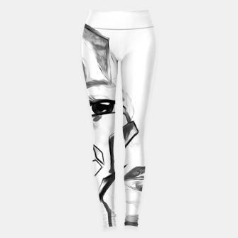 Thumbnail image of rainbow face oil reworked black white Leggings, Live Heroes