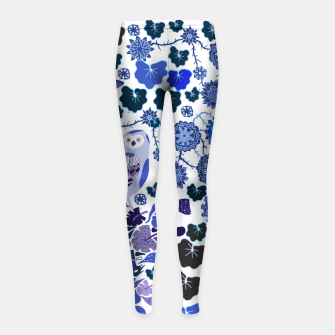 Miniaturka Blue owl world Girl's leggings, Live Heroes