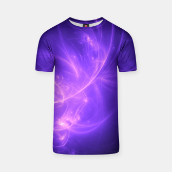 Thumbnail image of Purple Twilight Abstract Fractal Art Design T-shirt, Live Heroes