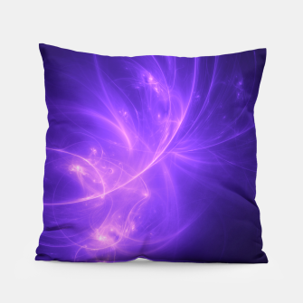 Thumbnail image of Purple Twilight Abstract Fractal Art Design Pillow, Live Heroes