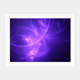 Thumbnail image of Purple Twilight Abstract Fractal Art Design Framed poster, Live Heroes