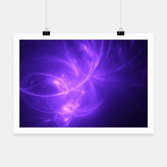 Thumbnail image of Purple Twilight Abstract Fractal Art Design Poster, Live Heroes