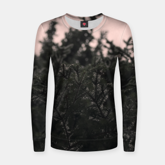 Miniatur Snow on branches Women sweater, Live Heroes