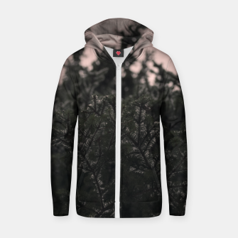 Miniatur Snow on branches Zip up hoodie, Live Heroes