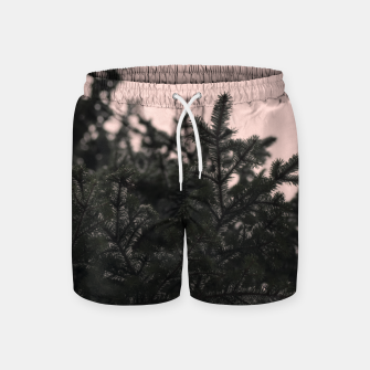 Miniatur Snow on branches Swim Shorts, Live Heroes