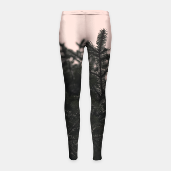 Miniatur Snow on branches Girl's leggings, Live Heroes