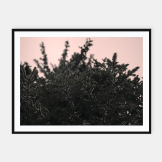 Miniatur Snow on branches Framed poster, Live Heroes