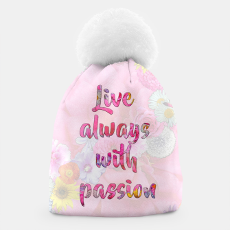 Thumbnail image of Live always with passion!  Beanie, Live Heroes