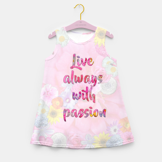 Thumbnail image of Live always with passion!  Girl's summer dress, Live Heroes