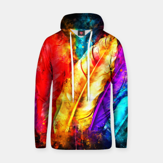 colorful bird feathers watercolor splatters Hoodie thumbnail image