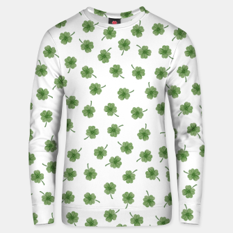 Thumbnail image of Light Green Clover Unisex sweater, Live Heroes