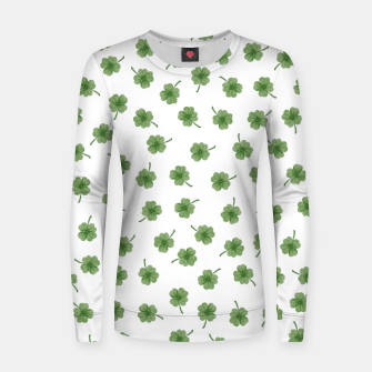 Thumbnail image of Light Green Clover Women sweater, Live Heroes