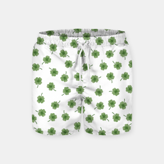 Thumbnail image of Light Green Clover Swim Shorts, Live Heroes