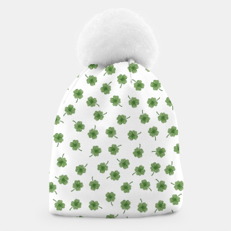 Thumbnail image of Light Green Clover Beanie, Live Heroes