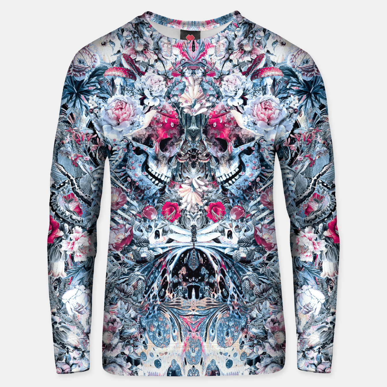 Image of Twin Skull Unisex sweater - Live Heroes