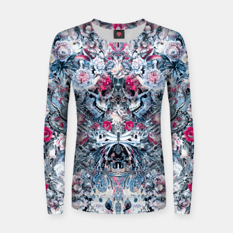 Thumbnail image of Twin Skull Women sweater, Live Heroes