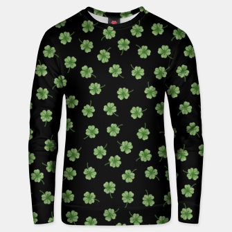 Thumbnail image of Dark Green Clover Unisex sweater, Live Heroes