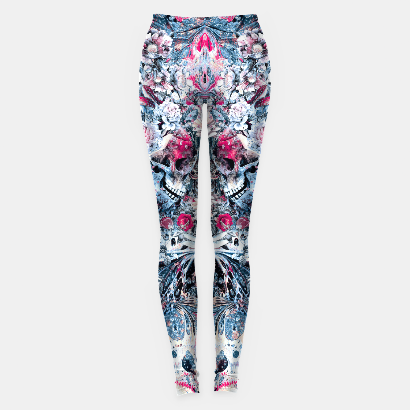 Image of Twin Skull Leggings - Live Heroes