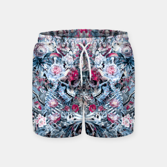 Thumbnail image of Twin Skull Swim Shorts, Live Heroes