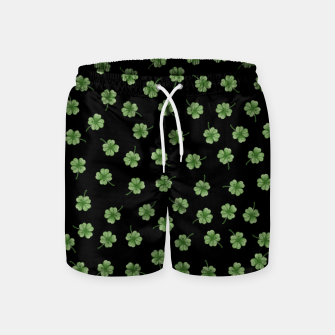 Thumbnail image of Dark Green Clover Swim Shorts, Live Heroes