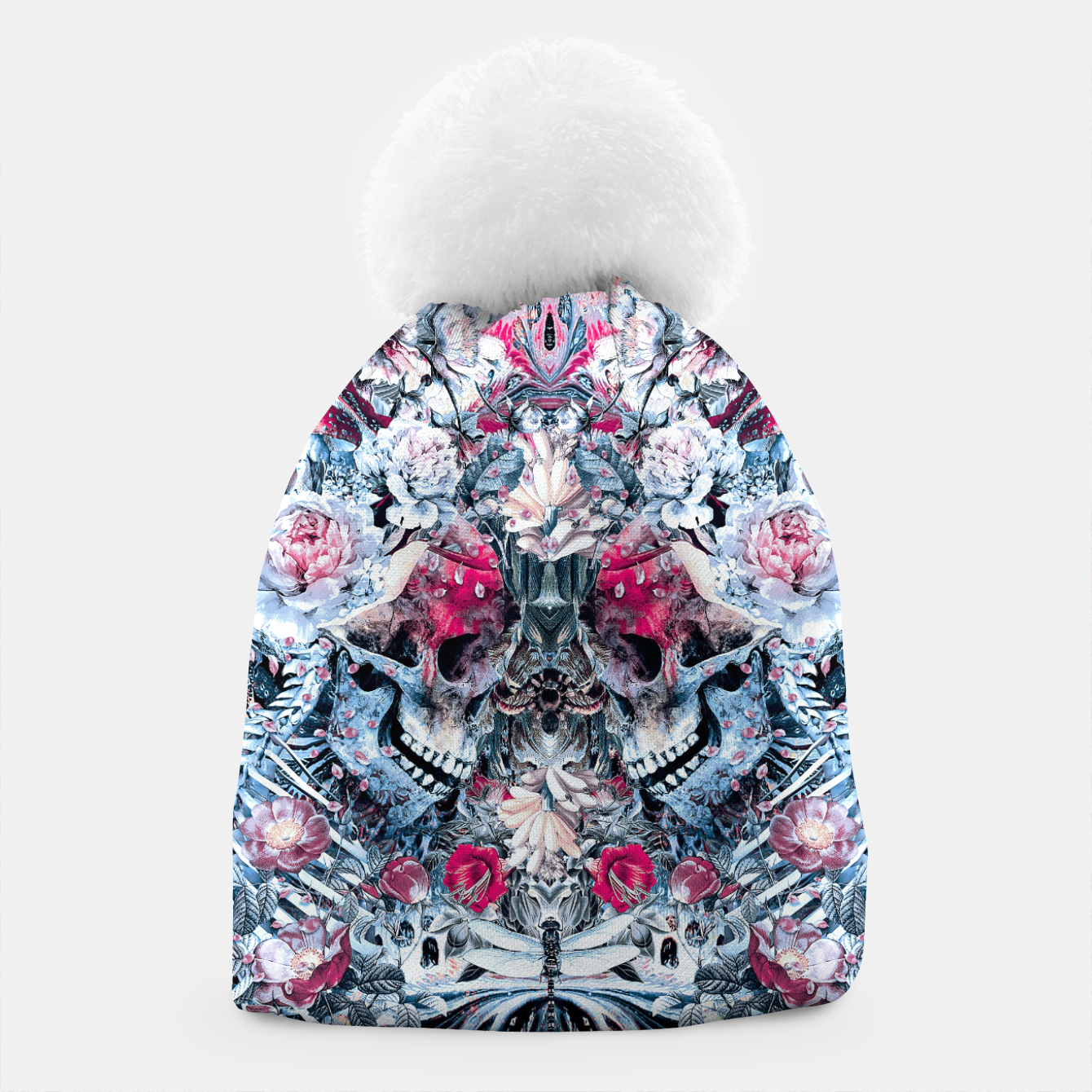 Image of Twin Skull Beanie - Live Heroes