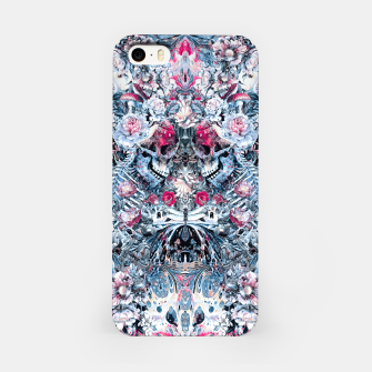 Miniatur Twin Skull iPhone Case, Live Heroes